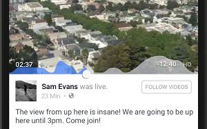 Facebook Live engagement graph