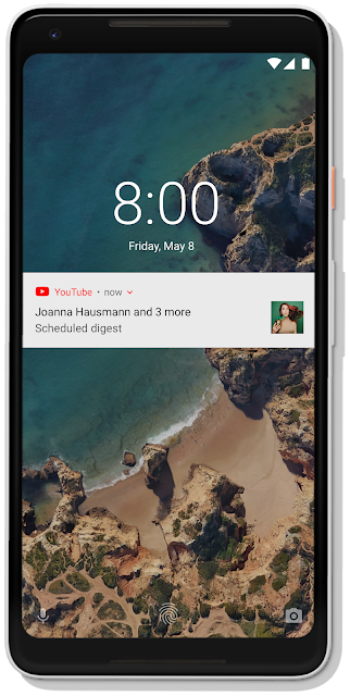 YouTube push notification example
