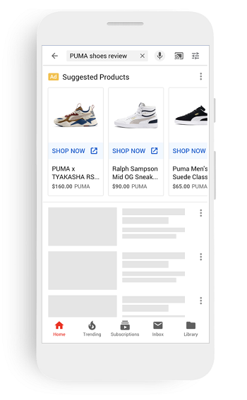 YouTube visual search ads