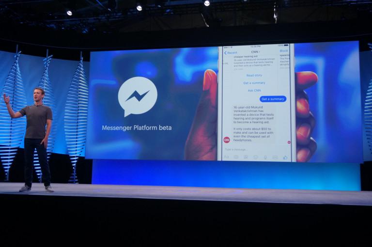 Facebook Messenger bot platform announcement